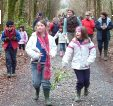 Student group during National Tree Week at Site 1, Clonbur